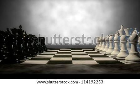 chess set - stock photo