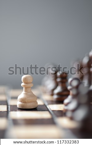 chess studio shot - stock photo