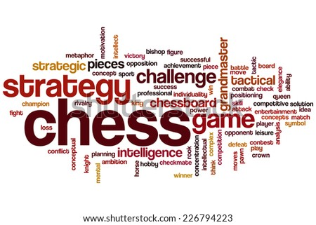 Chess word cloud concept - stock photo