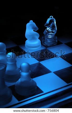 chesses game - stock photo