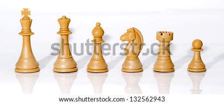 Chessmen Isolated on White - stock photo