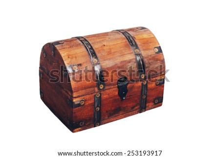 chest box shoot on the white background - stock photo
