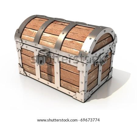 chest 3d illustration - stock photo