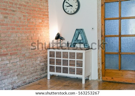 chest of drawers - stock photo