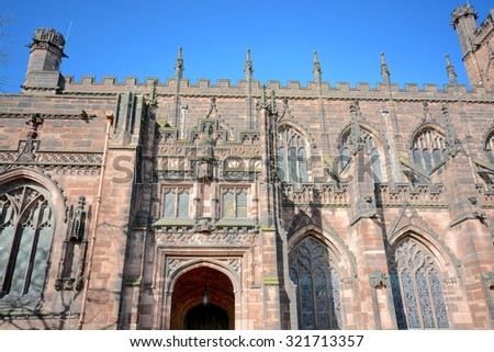 Chester cathedral - stock photo