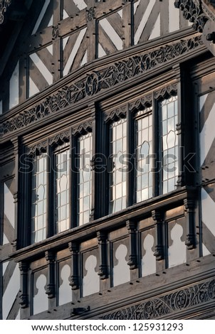 Chester, England, black and white building - stock photo