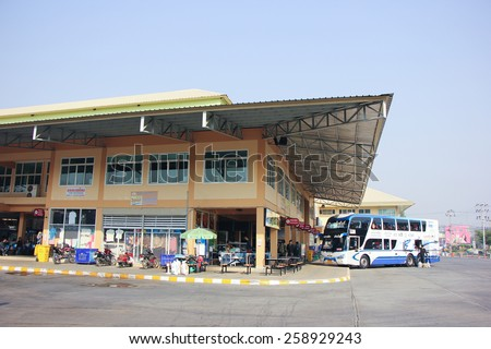 CHIANG MAI, THAILAND - FEBRUARY  28 2015:  New building of New Chiang Mai bus station. Photo at Chiangmai bus station, thailand. - stock photo