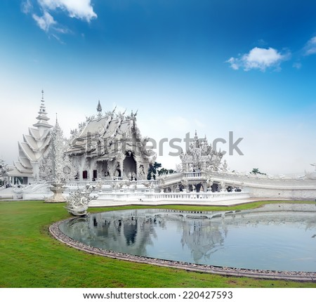 Chiang Rai White Temple. Northern Thailand traveling  - stock photo