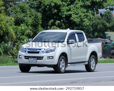 CHIANGMAI , THAILAND -JUNE 29 2015 :   Private car, Isuzu D-max Hi-Lander. Photo at road no 121 about 8 km from downtown Chiangmai, thailand. - stock photo