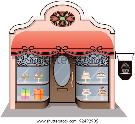 Chic Candy Store icon. - stock photo