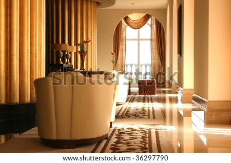 chic interior - stock photo