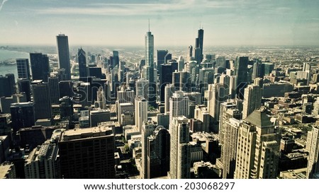 Chicago city - stock photo