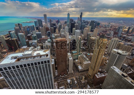 Chicago city at daytime  - stock photo