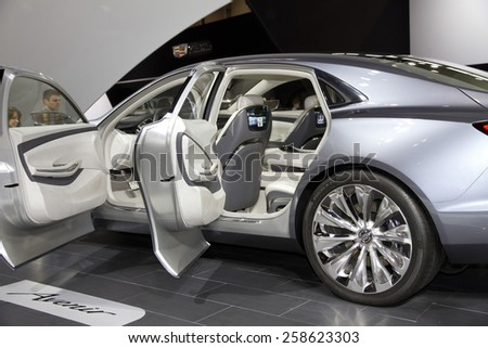 CHICAGO, IL - FEBRUARY 15: 2016 BUICK AVENIR at the annual International auto-show, February 15, 2015 in Chicago, IL - stock photo