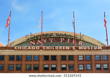 CHICAGO, ILLINOIS - AUGUST 22, 2015: Chicago Childrens Museum. The museum is located on Navy Pier, along the shore of Lake Michigan. - stock photo