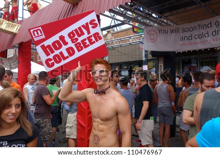 CHICAGO, ILLINOIS- AUGUST 11: Gay, lesbian, bisexual and transgendered men and women attend Market Days on August 11, 2012 in Chicago, Illinois. - stock photo