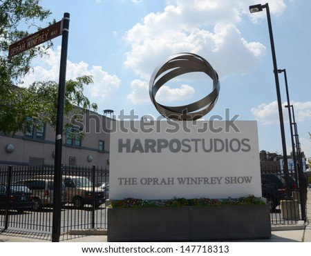 CHICAGO - JULY 18: Harpo Studios, the television production studio of Harpo Productions, Inc, is shown here on July 18, 2013.  The Oprah Winfrey Show and The Rosie Show were filmed here.  - stock photo