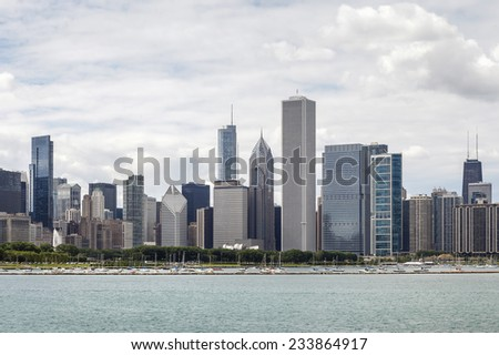 Chicago skyline, Illinois, USA - stock photo