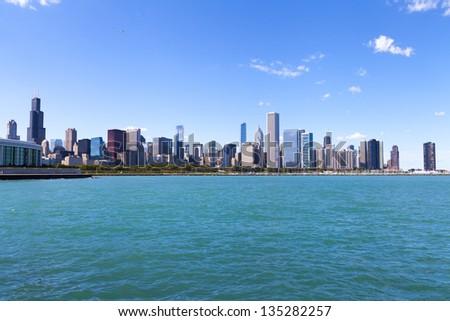 Chicago Skyline Panorama - stock photo