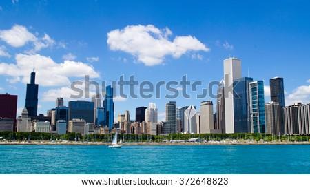 Chicago skyline - USA - stock photo