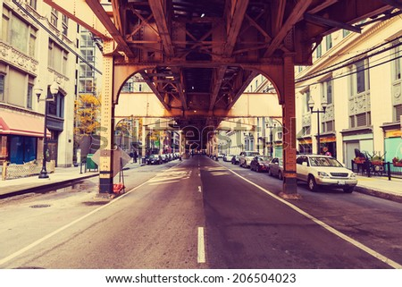 Chicago Street - stock photo