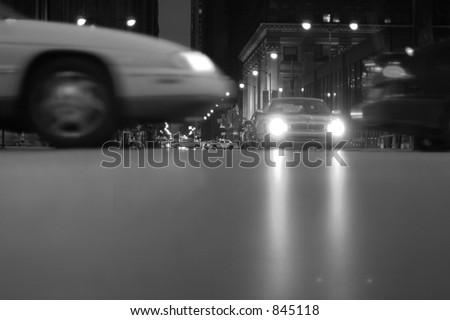 chicago traffic - stock photo