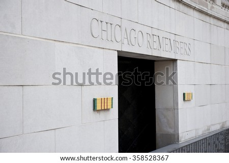 Chicago War Veteran Memorial - stock photo