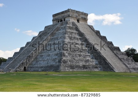 Chichen Itza in Mexico - stock photo