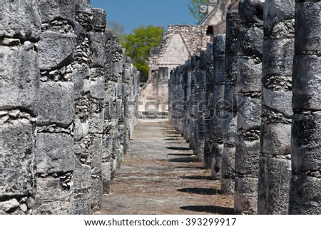 Chichen Itza in Yucatan, Mexico - stock photo