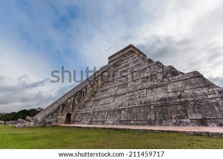 Chichen Itza, Mayan Pyramid in Yucatan, Mexico. - stock photo