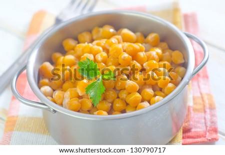 chick peas - stock photo
