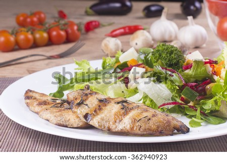 Grilled Chicken Salad Stock Photos, Images, & Pictures | Shutterstock