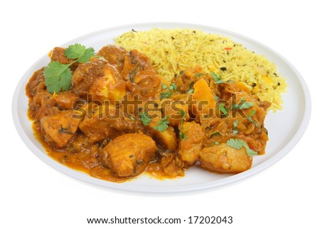 Chicken Bengal Indian Curry - stock photo