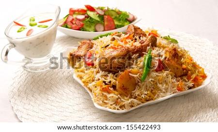 Chicken Biryani-1 - stock photo