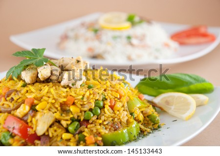 Chicken biryani - Indian cuisine - stock photo