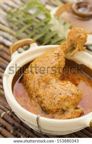 Chicken Curry w Halba Seeds Non sharpen file - stock photo