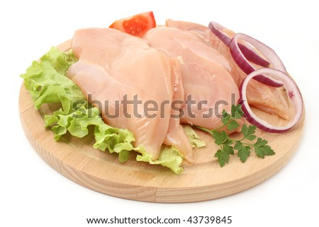 chicken fillets - stock photo