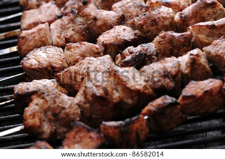 Chicken kebabs - stock photo