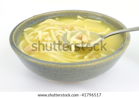 Chicken noodle soup - stock photo