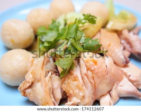 Chicken Rice Ball - Malacca Specialty Cuisine - stock photo