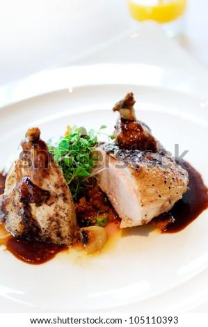 chicken steak grill - stock photo
