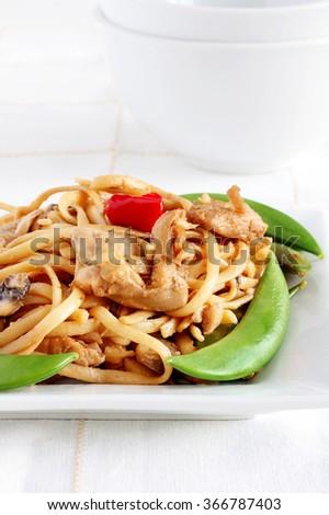 Chicken stir fry - stock photo