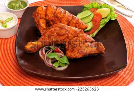 Chicken Tikka-2 - stock photo