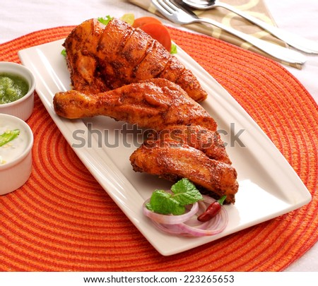 Chicken Tikka-3 - stock photo