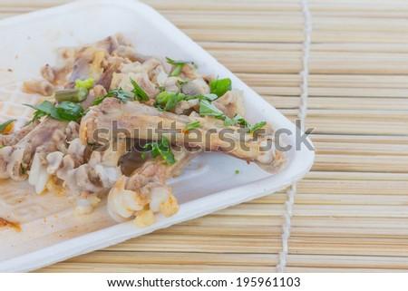 Chicken wings bones - stock photo