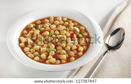 chickpea food - stock photo