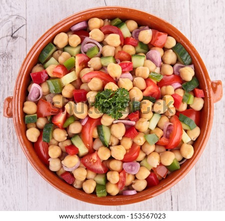 chickpea salad - stock photo
