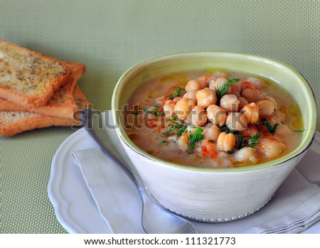 Chickpea soup - stock photo