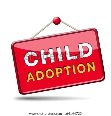 child adoption becoming a legal guardian and getting guardianship and adopt young baby  - stock photo