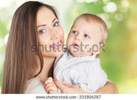 Child and Mother. - stock photo